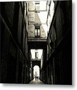Street In Barcelona Metal Print
