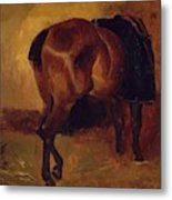 Study For Bay Horse Seen From Behind Metal Print