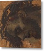 Study For The Head Of Christ In A Crucifixion Metal Print