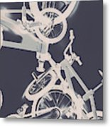 Stunt Bike Trickery Metal Print