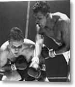 Sugar Ray Robinson Fighting Jake Metal Print