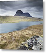 Suilven On A Stormy Day Metal Print
