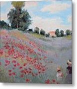 Summer Landscape Oil Painting Metal Print