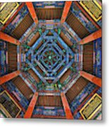 Summer Palace Ceiling Metal Print