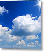 Sun And Clouds Metal Print