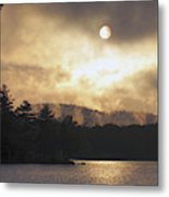 Sun Behind The Clouds Metal Print