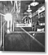 Sun Flare On Train Metal Print