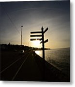 Sun Rise Sign Metal Print