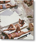 Sunbathers At Eden Roc Metal Print