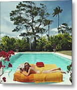 Sunbathing In Barbados Metal Print