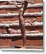 Sunbathing On Capri Metal Print