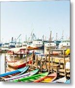 Sunda Kelapa Old Harbour  With Fishing Metal Print