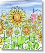 Sunflower Gods Metal Print