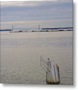 Sunken Sailboat In The Bay Metal Print