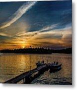 Sunrise Dog Lake Metal Print