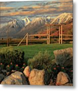 Sunrise In Carson Valley Metal Print