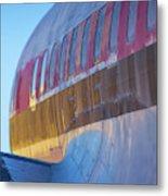 Sunrise On An Old Airplane Metal Print