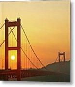 Sunrise On Hirado Bridge Metal Print