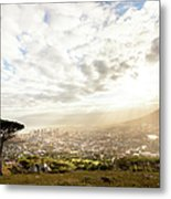 Sunrise Over Cape Town South Africa Metal Print