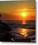 Sunrise Over Indian River Inlet Metal Print