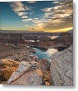Sunrise Over Padre Bay On Lake Powell Metal Print