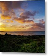Sunrise Over The Bay At Pigeon Point Lighthouse Metal Print