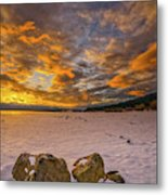 Sunrise Rocks Metal Print