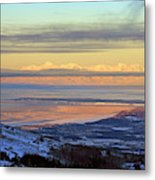 Sunrise View Across Cook Inlet From Above Anchorage Alaska Metal Print