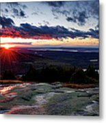 Sunrise View From Cadillac Mountain Metal Print