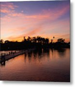 Sunset At Angkor Wat Metal Print