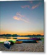 Sunset At Kayak Putrajaya Lake Metal Print