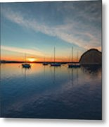 Sunset At Morro Bay Metal Print