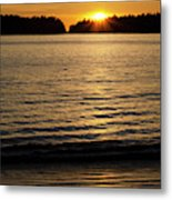 Sunset Beach Vancouver Island 2 Metal Print