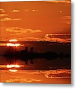 Sunset Behind Clouds Two Metal Print