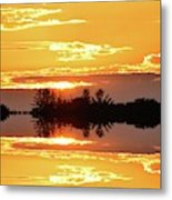 Sunset Behind The Tree Tops Two  Metal Print