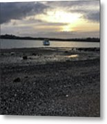 Sunset By Bucklands  Beach Metal Print