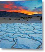 Sunset From Mesquite Flat Sand Dunes Metal Print
