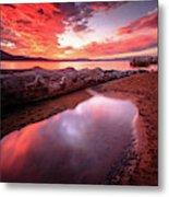 Sunset Harmony At Kiva Beach Metal Print