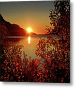 Sunset In Ersfjordbotn Metal Print