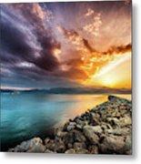 Sunset In Nafplio Metal Print