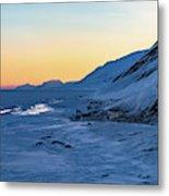 Sunset In The Arctic Metal Print