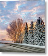 Sunset In Winter Metal Print