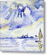Sunset On The Lagoon, Venice - Digital Remastered Edition Metal Print