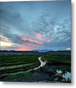 Sunset On The Rio Grande Metal Print