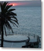 Sunset Over A Balcony Metal Print