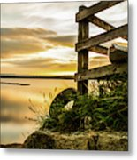 Sunset Over Reva Metal Print