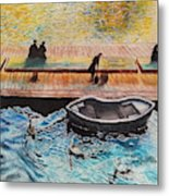 Sunset Scenery By Amsterdam Canal Metal Print