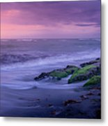 Sunset Surf On The Gulf Of Mexico, Venice, Florida Metal Print