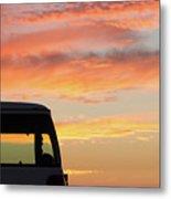 Sunset With The Van Metal Print