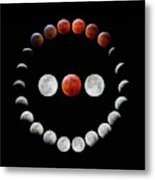 Super Blood Wolf Moon Eclipse Metal Print